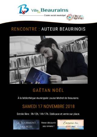 Rencontre avec Gaëtan NOËL jeune auteur Beaurinois |
